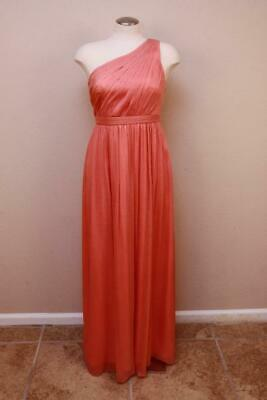 $169.58 • Buy J Crew $365 Silk Chiffon Kylie Gown 6 Bright Coral Long Dress Cocktail Party