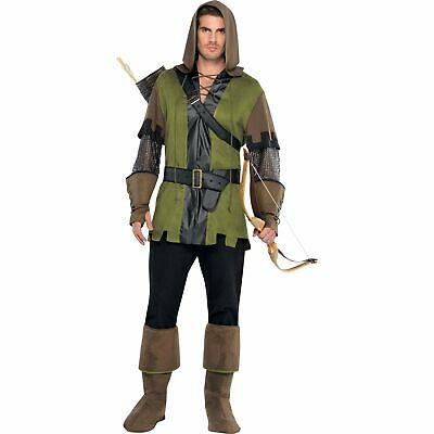Prince Of Thieves Robin Hood Archer Sherwood Mens Adults Fancy Dress Costume • 24.99£