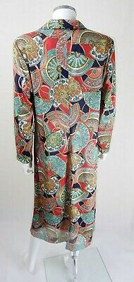AU85.57 • Buy 70s Vintage Bold Print Norman Linton Dress Size 18/20 Plus Size Vintage Clothing