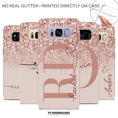 $ CDN10.28 • Buy Personalised Phone Cover Case Name Initials Silicone For Samsung S10 S9 S8+ S20