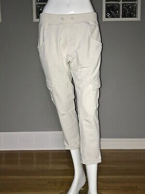 $ CDN54.40 • Buy Lululemon Carry And Go Pant 10 Heathered White Vguc Slouch Cargo Trouser