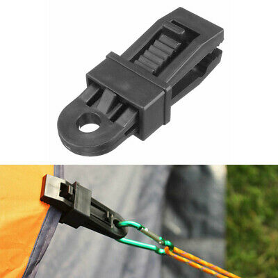 Heavy Duty Camping Tarpaulin Eyelet Clips Non-piercing Tent Tie Down Cover Me • 3.76£