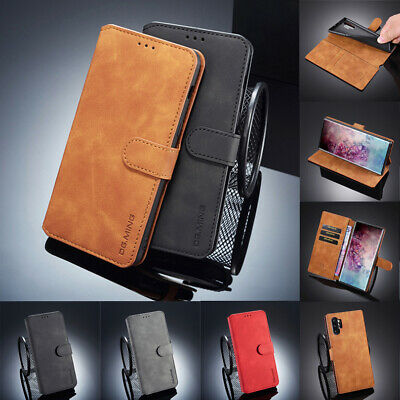 $ CDN7.15 • Buy Case For Samsung Note 20 Ultra S21+ S20 S9 Plus Flip Retro Leather Wallet Cover