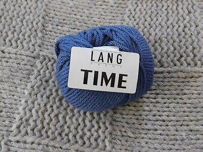 $18.95 • Buy 9 SKEINS OF TIME By LANG YARNS ~ 610 YDS TOTAL! MED. BLUE MERINO & ACRYLIC