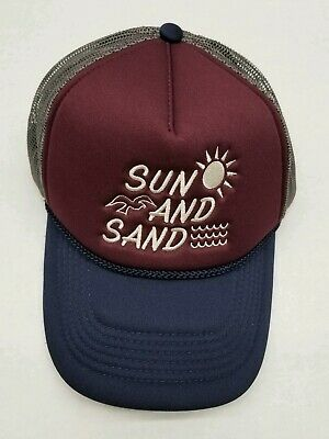 $13.99 • Buy Oneill Trucker Hat Sun And Sand Adjustable Navy And Maroon
