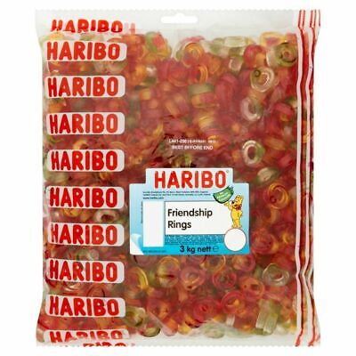 £16.99 • Buy 3kg Haribo Friendship Rings Fruit Flavour Party Sweets Candy £16.99 Free P&P