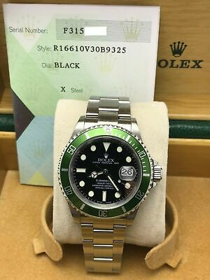 $ CDN32599.60 • Buy Rolex Submariner 16610V Green Kermit Stainless Box Paper Mint Condition Flat 4