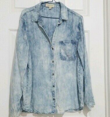 $ CDN39 • Buy Anthropologie Cloth And Stone Stripe Chambray Button Down