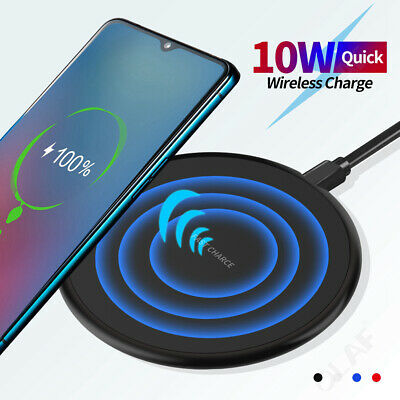 $ CDN5.82 • Buy Qi Wireless Charger Fast Charging Dock Mat Pad For Galaxy S10+ IPhone 11 XS X 8