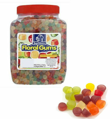 2.25KG Jar Of Squirrel Floral Gums Scented Gummy Sweet Free Tracked Delivery • 16.99£