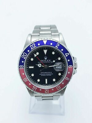 $ CDN20372.20 • Buy Rolex GMT Master II 16760 Fat Lady Pepsi Red & Blue Bezel Stainless Faded Red