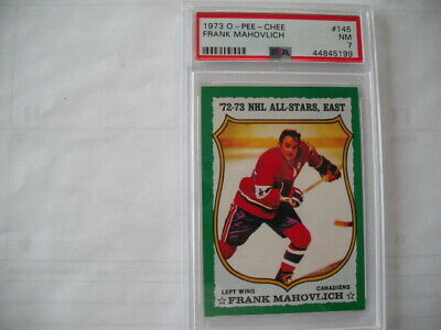 $29.99 • Buy 1973 O-pee-chee Frank Mahovlich  Montreal Canadiens  #145 Graded Nm Psa 7