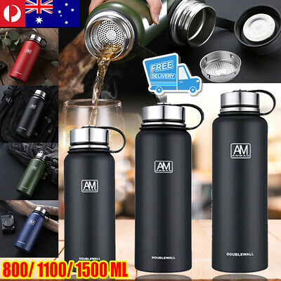 AU22.89 • Buy Stainless Steel Vacuum Water Bottle Double Wall Insulated Gym Sports Metal Flask