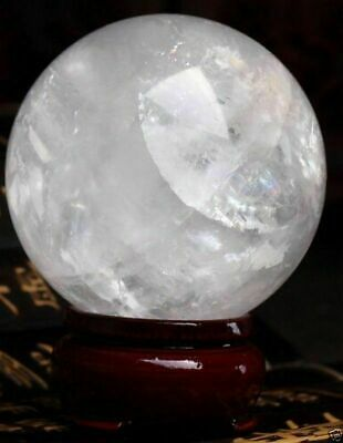 £34.99 • Buy  NATURAL CLEAR QUARTZ CRYSTAL SPHERE BALL HEALING GEMSTONE 60-150mm+stand