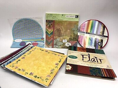 $54.77 • Buy Huge Scrapbook Paper Lot 135+ Loose Sheets 3 Large Books Over 360 Shts In All