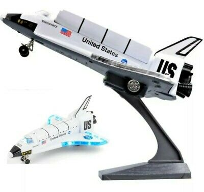 SPACE SHUTTLE NASA DISCOVERY TOY KIDS Plane USA Minicraft Light Metal Sound Gift • 18.08£