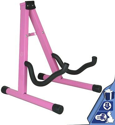 $ CDN13.83 • Buy Guitar Stand Pink Folding Metal Electric Acoustic Free Standing A Frame Stand