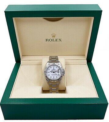 $ CDN10519.82 • Buy Rolex Explorer II White Dial 16570 Stainless Steel Creamy Patina