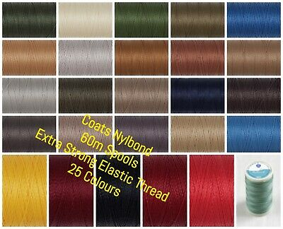 £1.95 • Buy Coats Nylbond - Extra Strong Bonded Sewing Thread - 60m Spool - 27 Colours