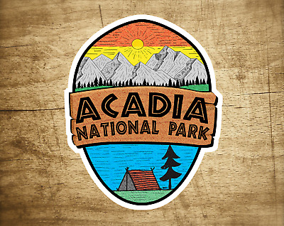 $5.29 • Buy Acadia National Park Maine Sticker Decal 3.5  X 2.8  Vinyl New Distressed Campi