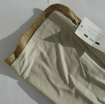 £3.99 • Buy Lovely Simple Design NATURAL JUTE / Rope Edged Linen Beige 17  Cushion Covers