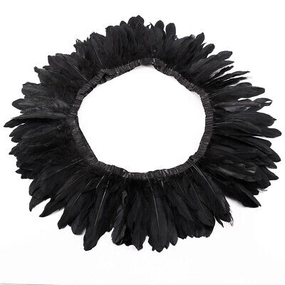 £7.99 • Buy 2m Goose Feather Fringe Trim For Dress Costumes Hats Cape Sewing DIY Party Craft