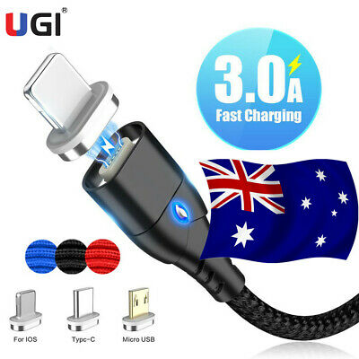 AU17.32 • Buy AU 3A Magnetic Type C Android Fast Charger Data Sync Charging Cord Phone Cable