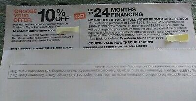 $55 • Buy Home Depot Coupon 10% OFF Or Up To 24mo Financing! Expire 1/31/20 With HD Card