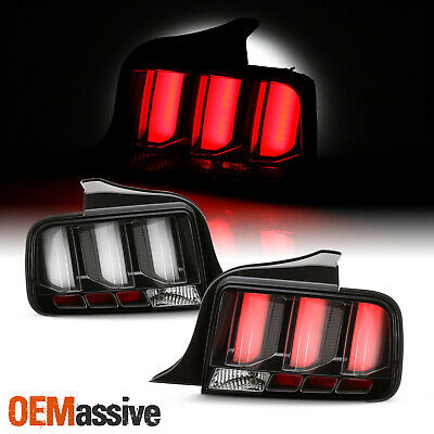 $286.99 • Buy For 05-09 Ford Mustang LED [White Tube] Black Tail Lights W/ Sequential Signal