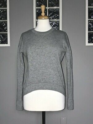 $ CDN57.80 • Buy Lululemon Yogi Crew Sweater 2 4 Heathered Gray Inkwell Aged Moss Knit Pullover