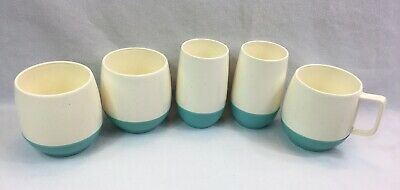 $4 • Buy Vtg 60s Vacron Bopp Decker Insulated Plastic Thermal Cups Mugs Mixed Lot Of 5