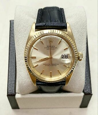 $ CDN11621.74 • Buy Vintage Rolex 1601 Datejust 18K Yellow Gold With Leather Band Circa 1959