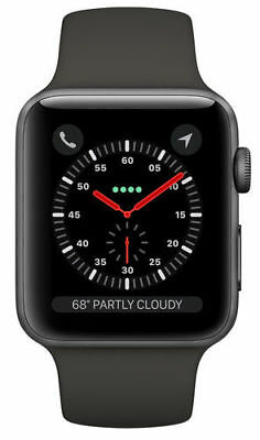 $ CDN302.21 • Buy Apple Watch Series 3 38mm GPS Only Space Gray Aluminum Case - Gray Sport Band