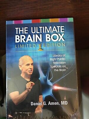 THE ULTIMATE BRAIN BOX -  Dr. Daniel Amen 8 Disc DVD Set BRAND NEW FREE SHIPPING • 13.02£
