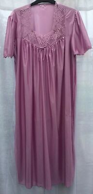 Ladies Dusky Pink Satin Nightie Nightdress Retro Vintage Style, Long Length, NEW • 9.49£