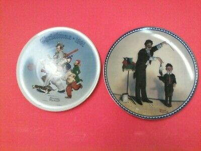 $ CDN39.94 • Buy TWO NORMAN ROCKWELL PLATES:  THE MAGICIAN And SANTA'S HELPER XMAS 1991