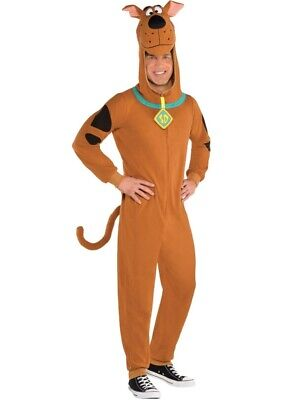 Adults Fleece Scooby Doo Fancy Dress Dog Costume Book Day Week Halloween Mens • 23.99£
