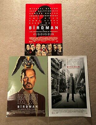 $ CDN19.87 • Buy Birdman Or (The Unexpected Virtue Of Ignorance) Movie Posters Set Of 3