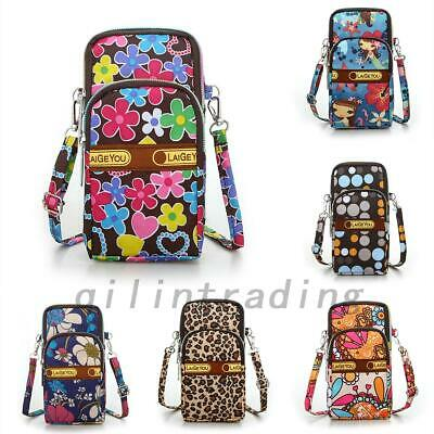 AU11.99 • Buy Cross Body Mobile Phone Shoulder Bag Pouch Case Belt Handbag Purse Wallet Flower