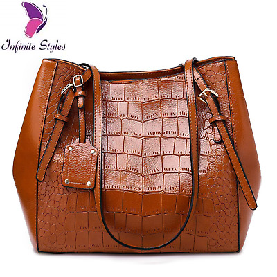 AU39 • Buy Women Female Handbags Shoulder Bags Vintage Hoho Large Bucket Leather Bags Tote