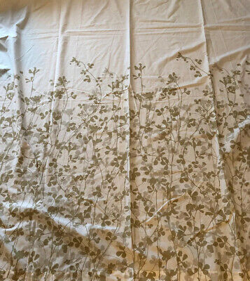 Ikea Ransby Shower Curtain Beige White Leaves Bath Spa Nature Floral • 22.41£