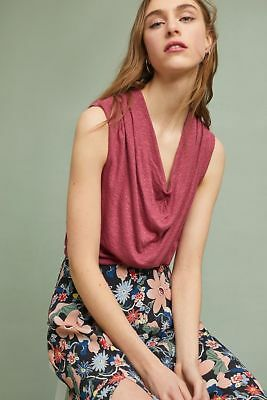 $ CDN19.55 • Buy Anthropologie Tibby Tank, Nwt, Xs, Rasberry, New Arrival, No Sleeves, Cowl Neck