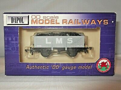 Dapol B338 Lms Grey 5 Plank Coal Wagon 404102 & Load Boxed  00 Scale • 12.99£