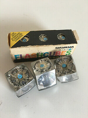 $15.99 • Buy Sylvania Blue Dot Flash Cubes Vintage Pack Of 3 + 3 W/o Box = 24 Flashes