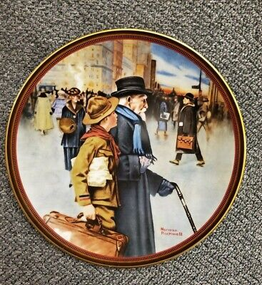$ CDN25 • Buy Norman Rockwell A HELPING HAND Limited Edition Collectible Plate #732C