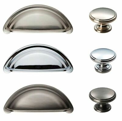 Matching Traditional Cabinet Cupboard Kitchen Wardrobe Door Cup Handles & Knobs • 2.98£