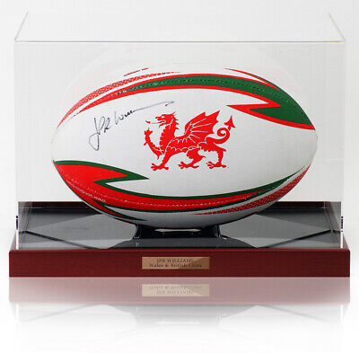 JPR Williams Hand Signed WRU Rugby Union Ball WALES Photo AFTAL COA • 169£