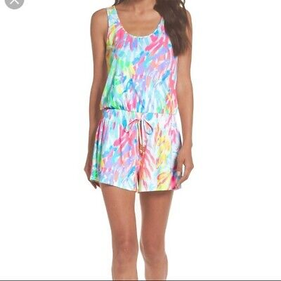 $59.99 • Buy NWT Lilly Pulitzer Tala Romper Multi Sparkling Sands XL Free Shipping!