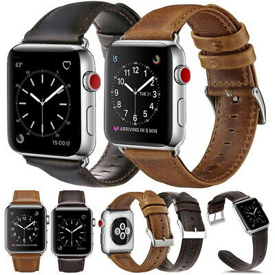 AU10.99 • Buy For Apple Watch IWatch Genuine Leather Strap Wrist Band Series 5 4 3 2 1 44/42mm