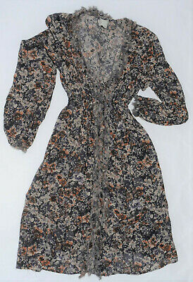 Top Shop Grey Floral Maternity Dress With Cami, Size 10 • 6.50£